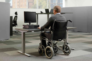 Standing desk for wheelchairs