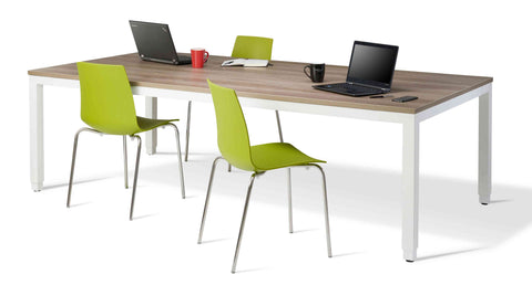 Trosa Height Adjustable Table - Silver Frame