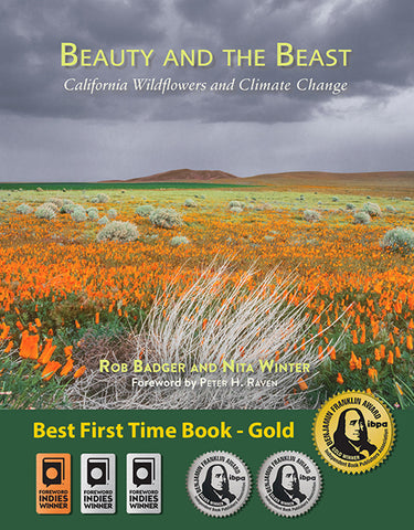 Six book award medals for Beauty and the Beast: California Wildflowers and Climate Change