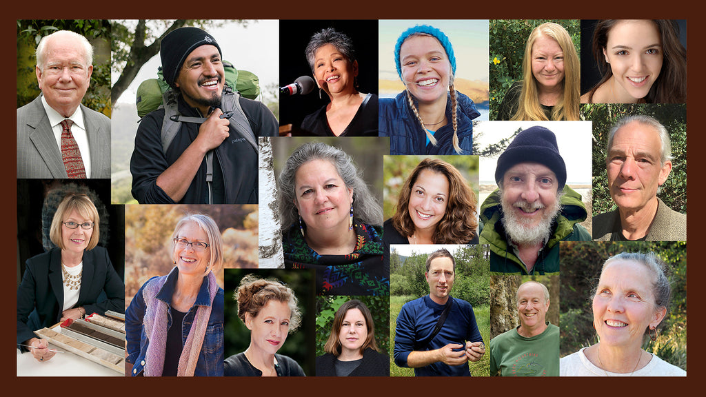 portraits of 16 diverse and passionate authors for Beauty and the Beast: California Wildflowers and Climate Change stories