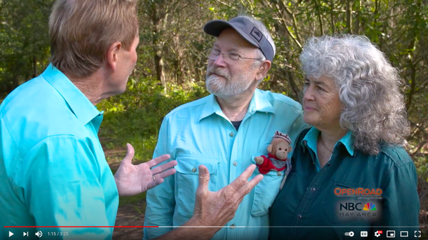 Rob Badger and Nita Winter interviewed about their wildflowers and climate change photography by Doug McConnell for NBC-TV's OpenRoad
