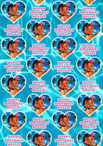 BABY MOANA Personalised Wrapping Paper - Disney D2