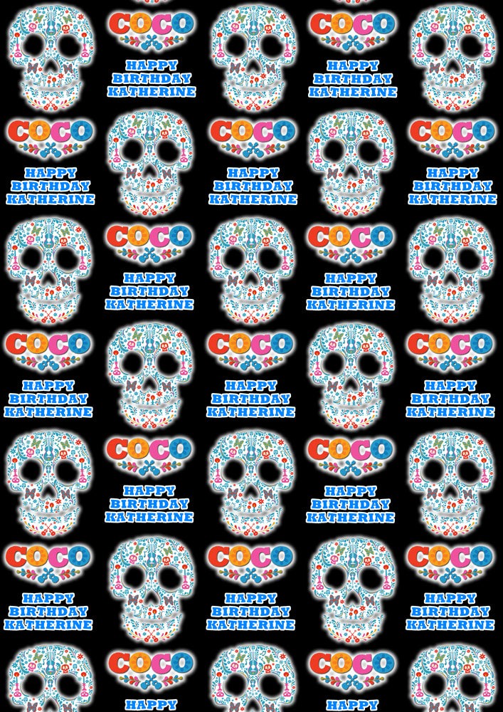 DISNEY'S COCO Personalised Wrapping Paper - Disney - D2
