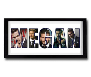 DAVID BECKHAM Personalised Name Print - Fully Framed