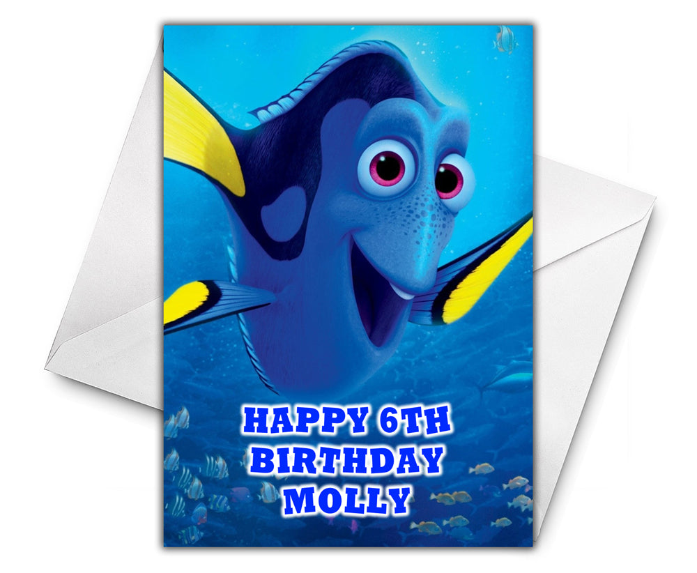 DORY FINDING NEMO Personalised Birthday Card - Disney