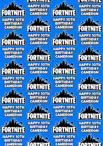 FORNITE Personalised Wrapping Paper
