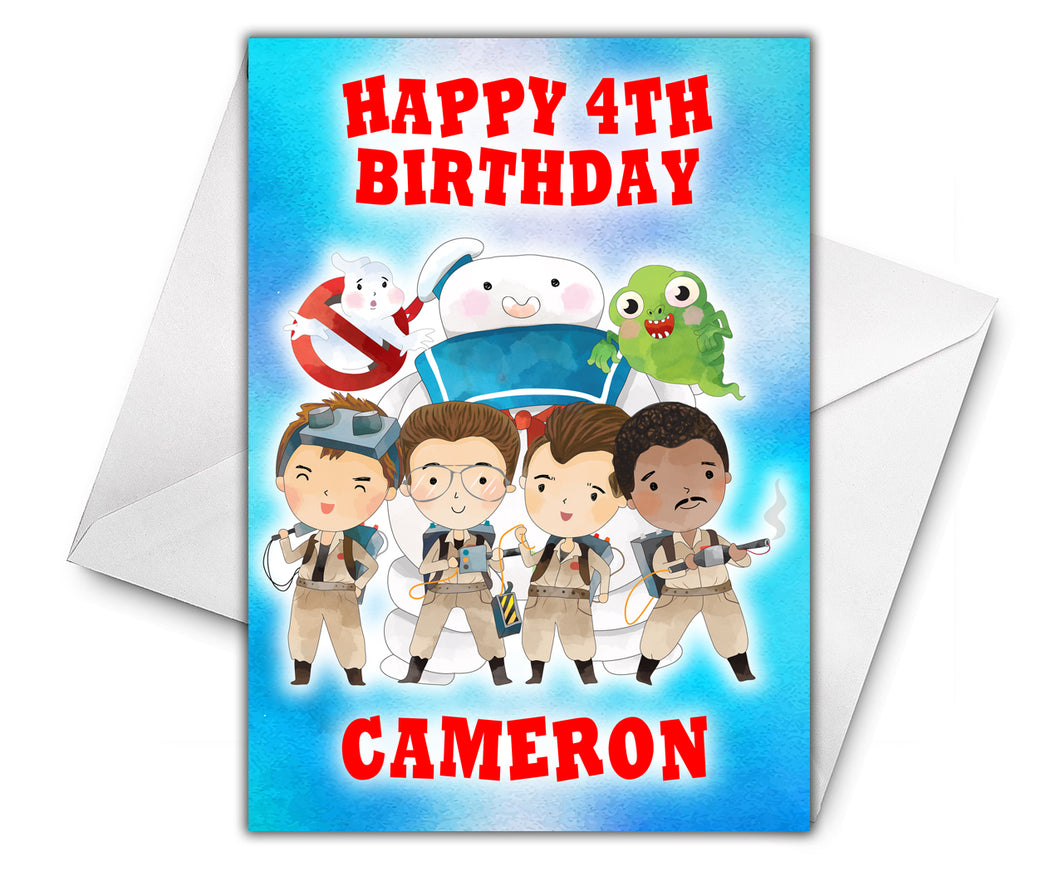 GHOSTBUSTERS Personalised Birthday Card - D2