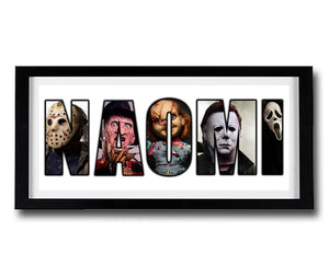 HORROR THRILLER Personalised Name Print - Fully Framed