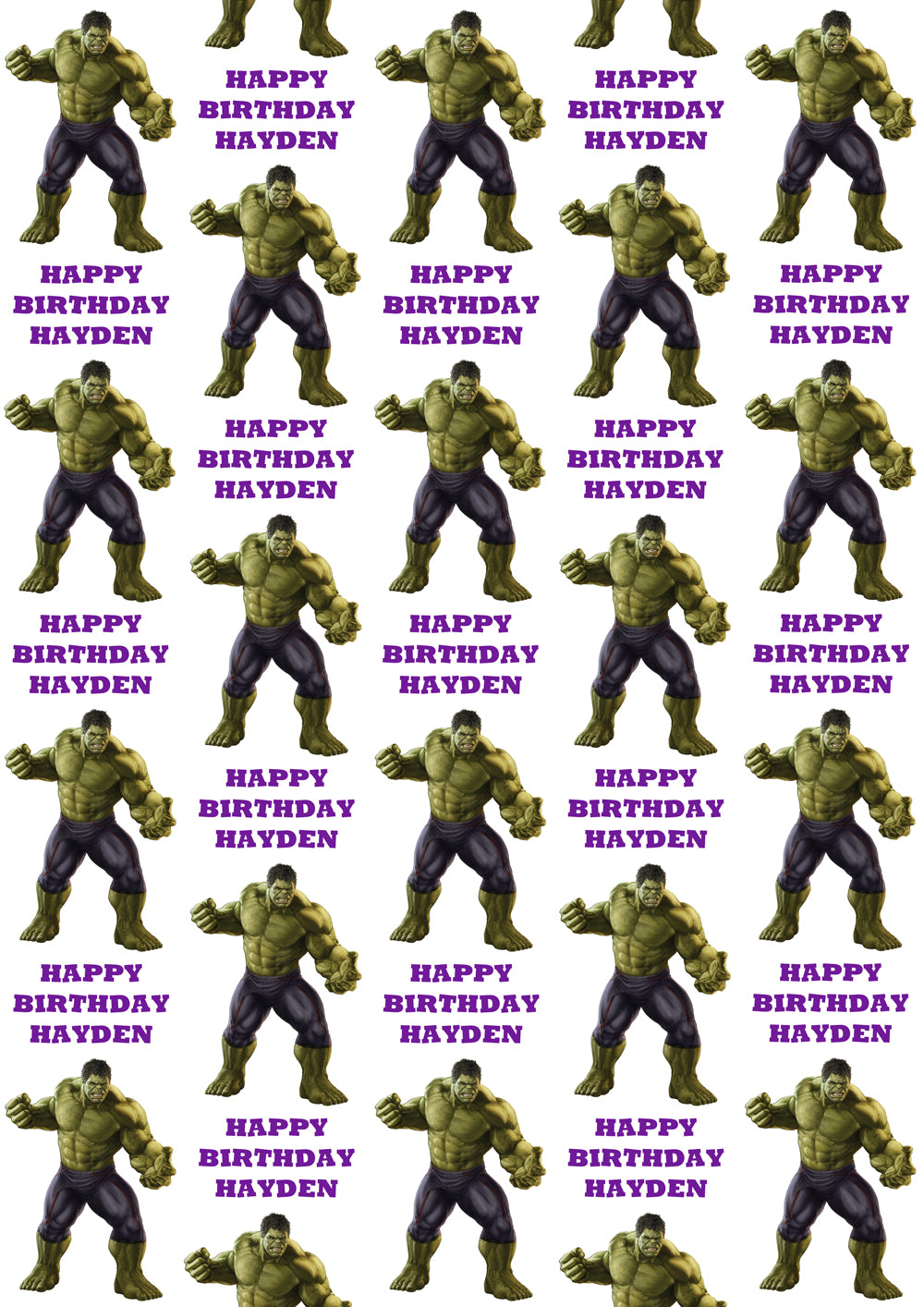 INCREDIBLE HULK Personalised Wrapping Paper