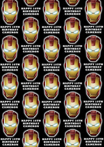 IRON-MAN Personalised Wrapping Paper