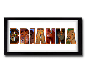 LION KING 2 Personalised Name Print - Fully Framed - Disney