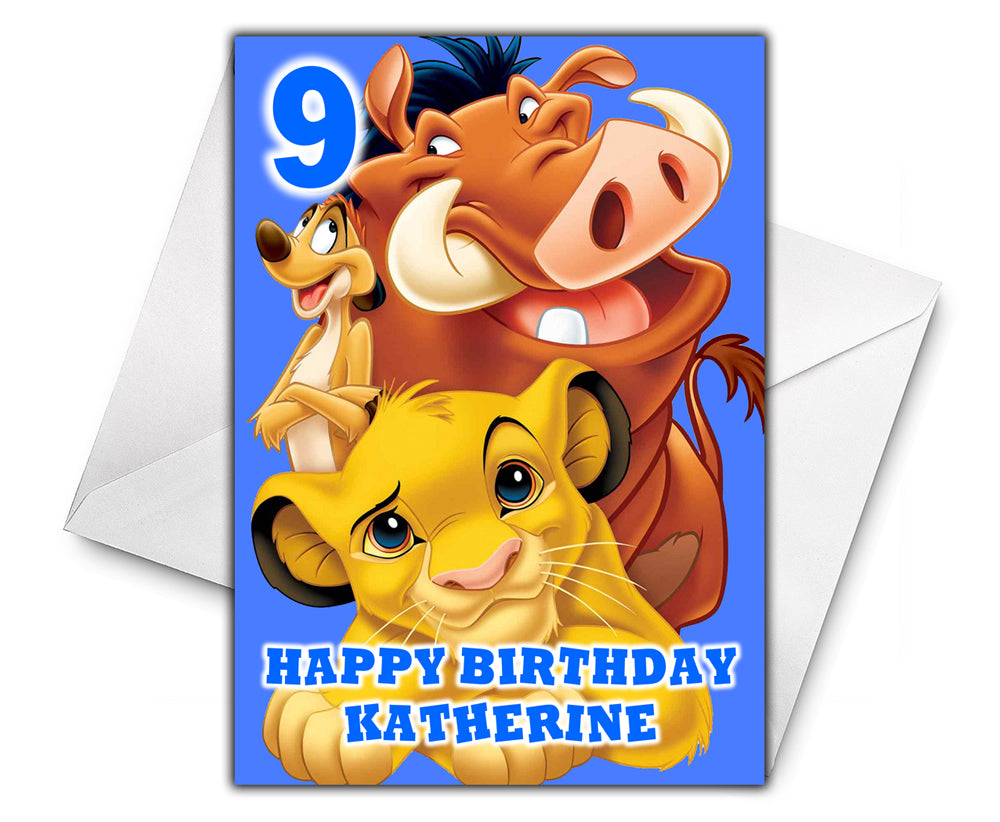 LION KING Personalised Birthday Card - Disney - D3