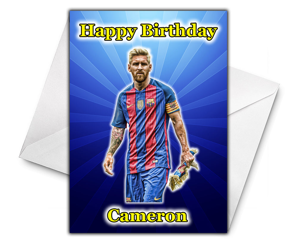 LIONEL MESSI Personalised Birthday Card