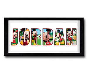 MICKEY MOUSE Personalised Name Print - Fully Framed - Disney