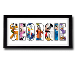 MICKEY MOUSE CLUBHOUSE Personalised Name Print - Fully Framed - Disney
