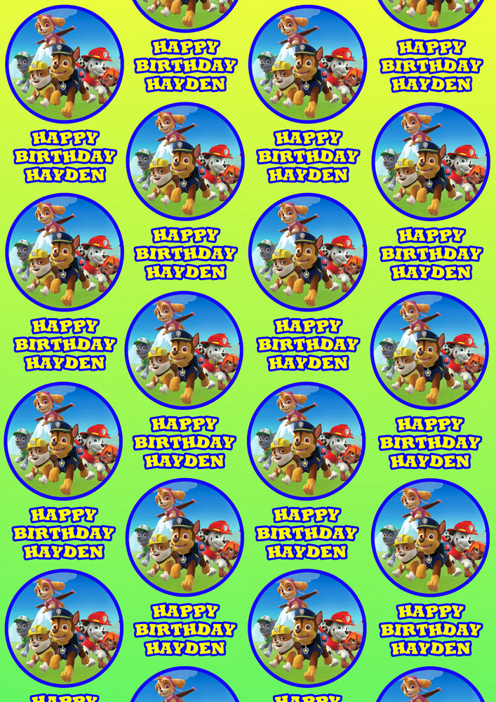 PAW PATROL Personalised Wrapping Paper