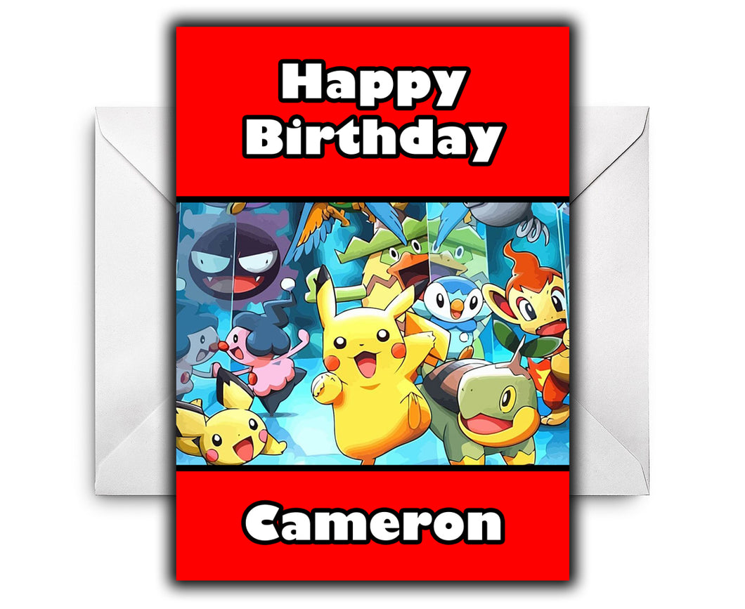 POKEMON Personalised Birthday Card