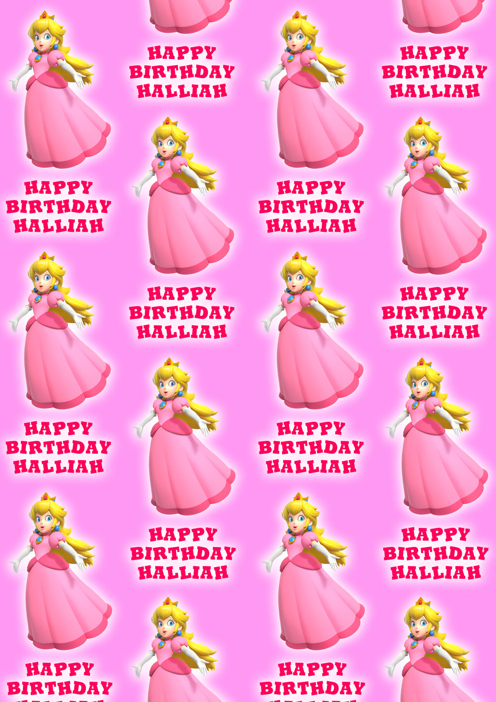 PRINCESS PEACH Personalised Wrapping Paper