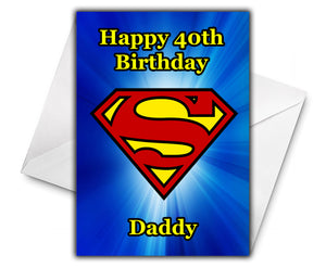 Superman Personalised Birthday Card - DC Comics