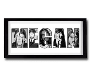 THE BEATLES Personalised Name Print - Fully Framed
