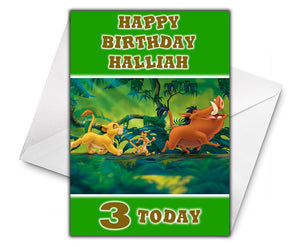 LION KING Personalised Birthday Card - Disney - D6