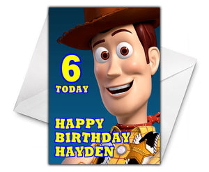 WOODY TOY STORY Personalised Birthday Card - Disney