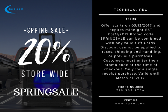Spring Sale Terms