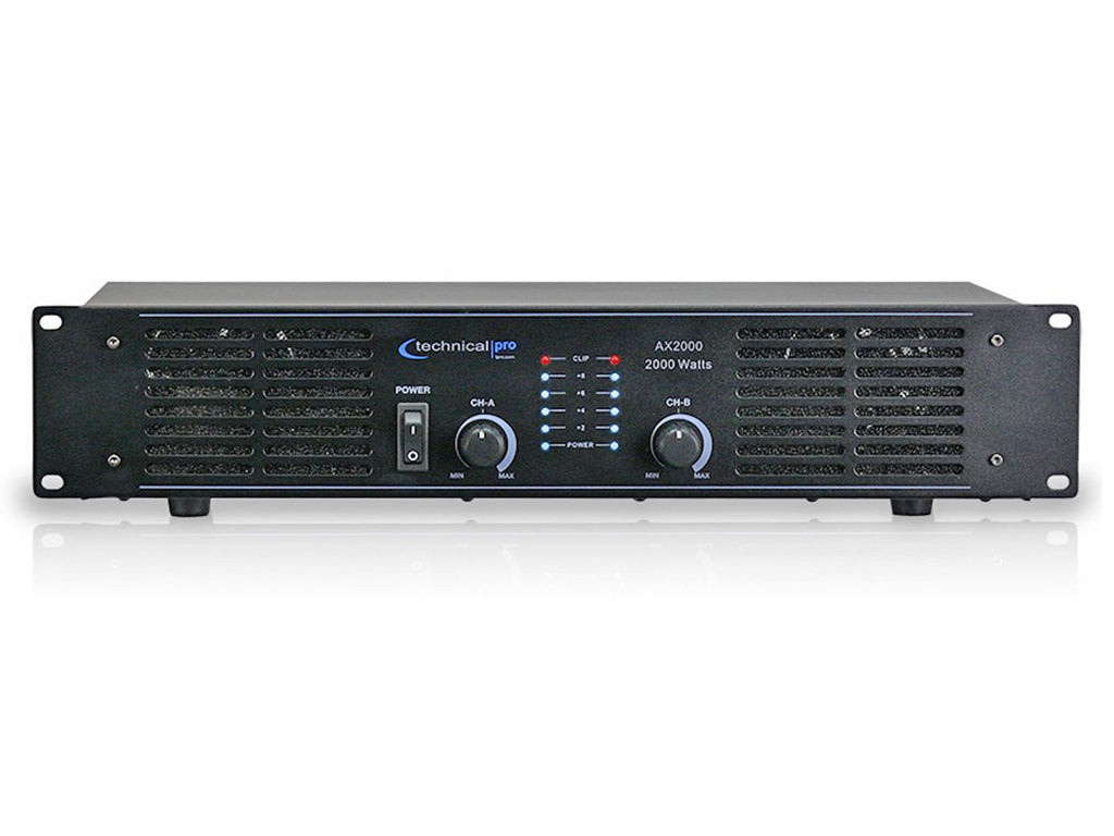 Technical Pro - 2U Pro 2CH Power Amplifier (AX2000)