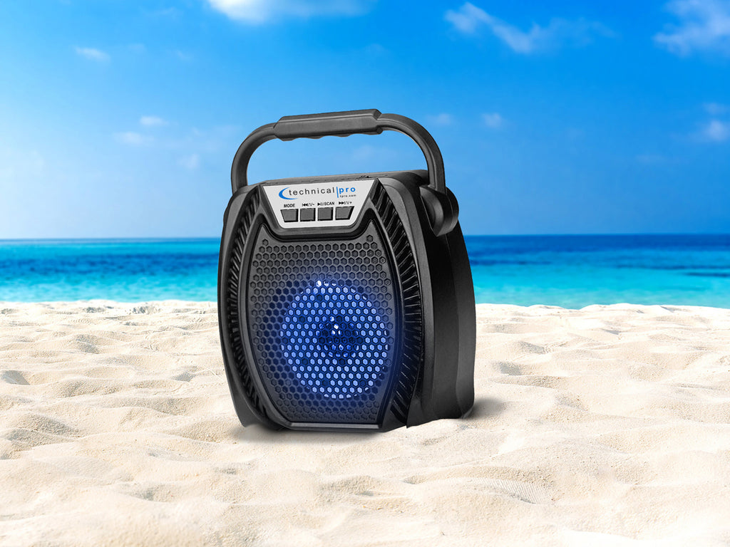 Rechargeable LED Bluetooth Speaker with USB & TF Card Input