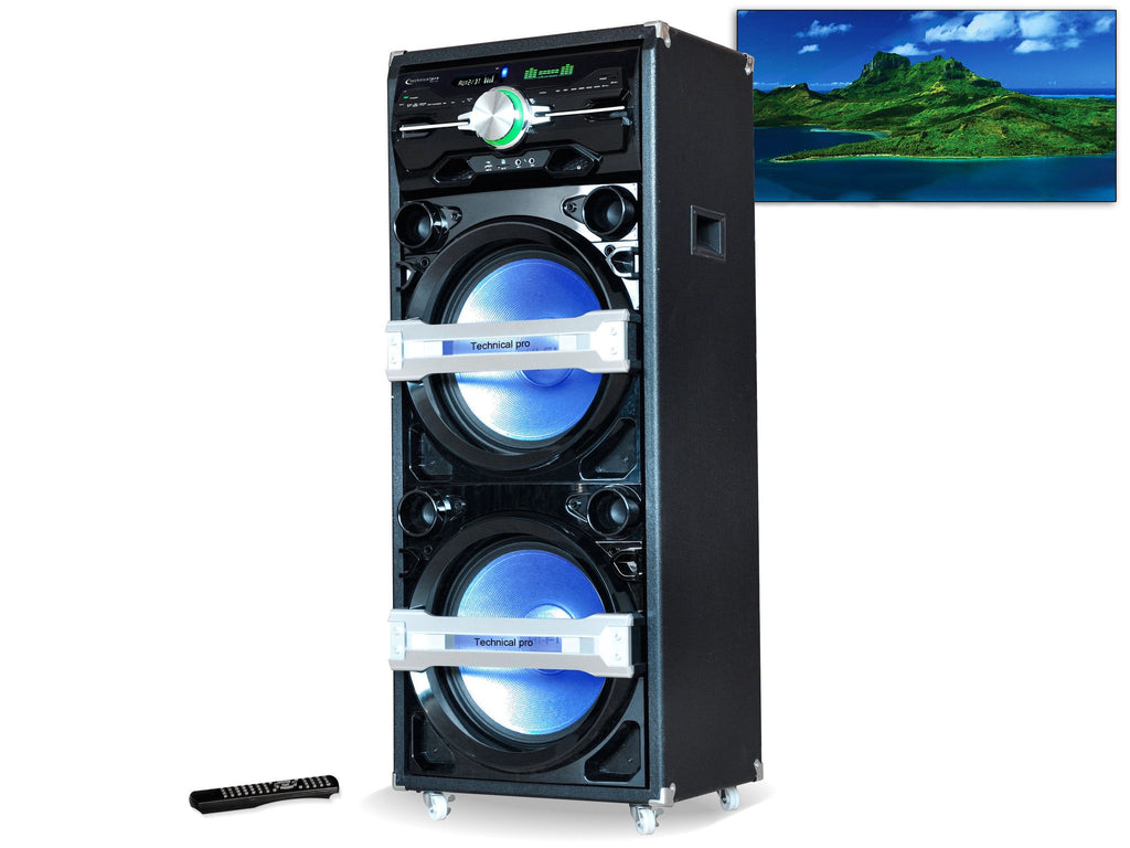 "Technical Pro - Pro 15"" Speaker & Entertainment Center"