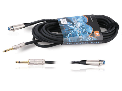 "1/8"" to XLR Male Audio Cables"