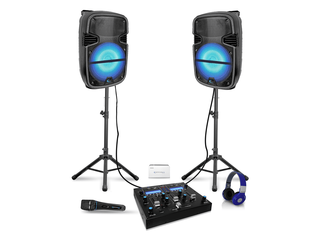 Technical Pro - Rechargeable LED DJ Loudspeaker Package V2