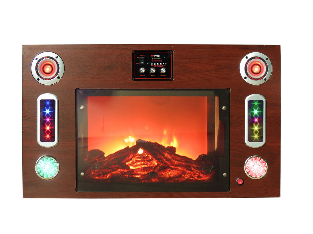 Electric Fireplace Bluetooth Entertainment Center Technical Pro