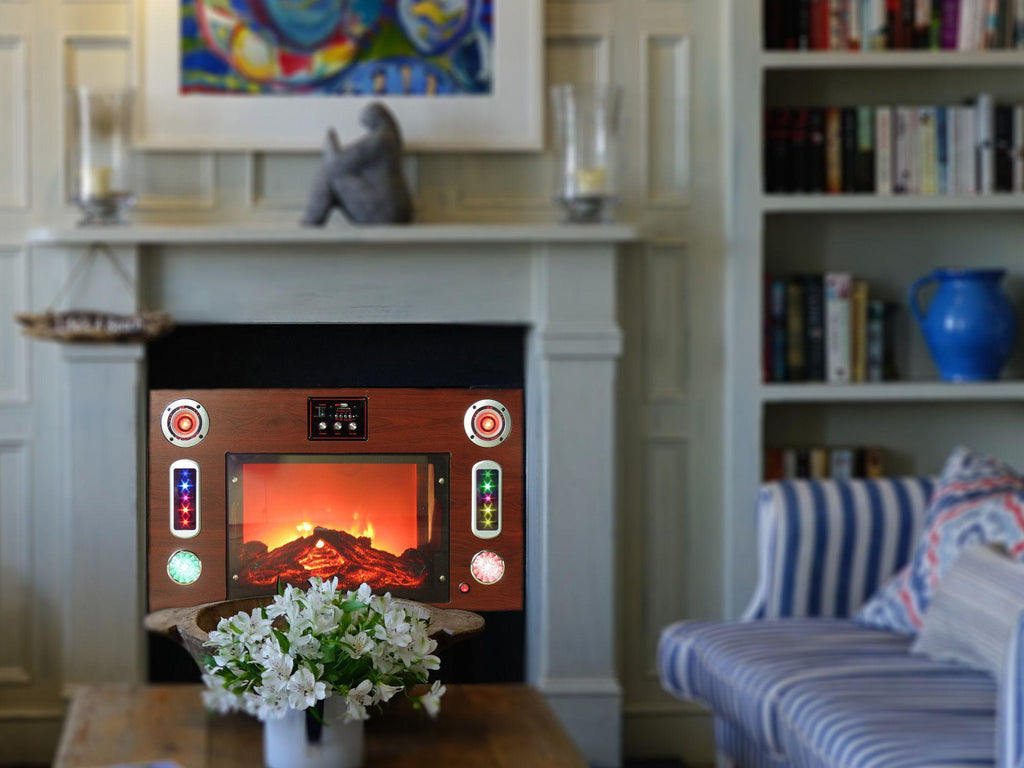 ... Technical Pro   Electric Fireplace Bluetooth® Entertainment Center