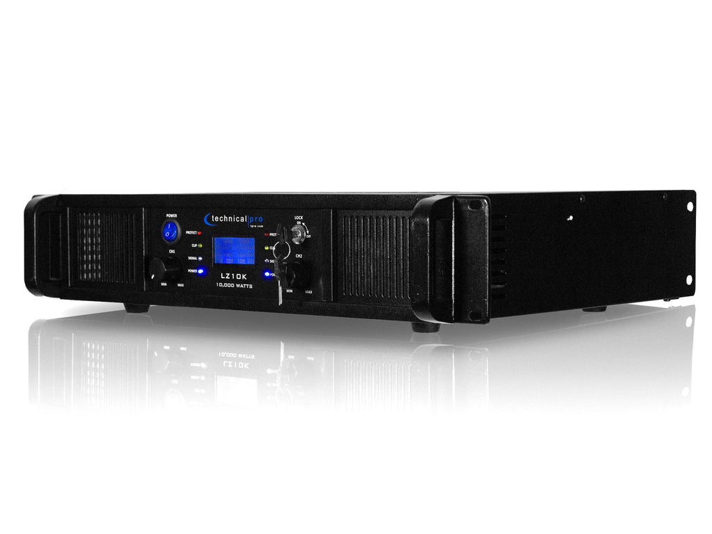 Technical Pro 2ch Amplifier With Lcd Display And Key Lock Lockin Amplifierj Power