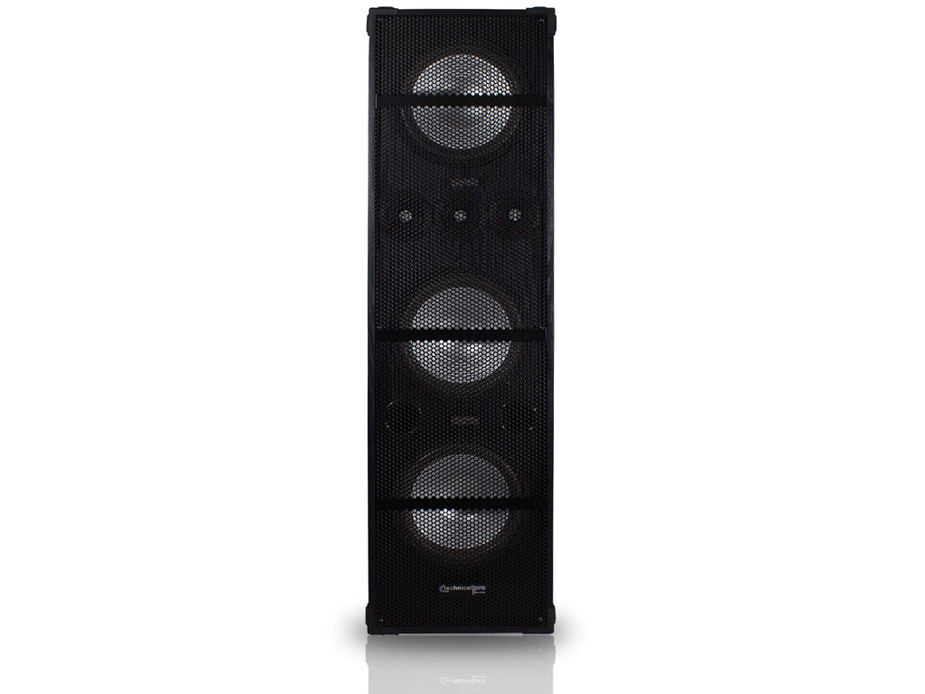 "Technical Pro - Passive 10"" LED Carpeted Speaker Tower"