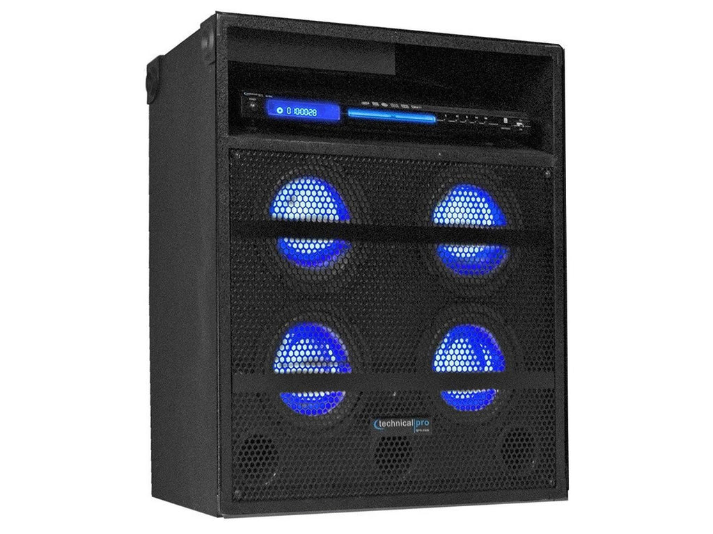 Pro Quadruple Woofer Led Speaker