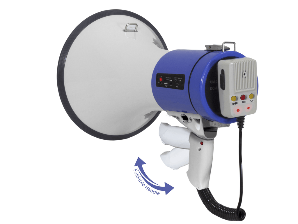 Technical Pro - Megaphone with Detachable Mic, Siren and USB/SD Input