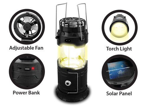 9-in-1 Solar Power Bank Speaker