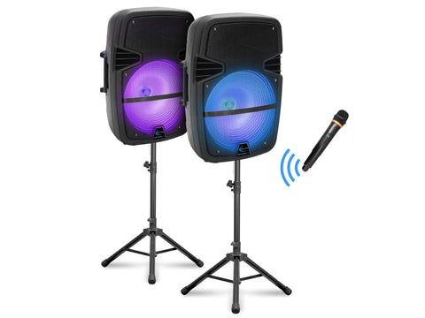 Rechargeable LED DJ Loudspeaker Package V2
