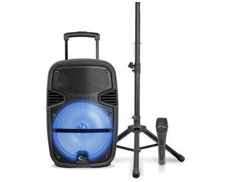 "Active 15"" LED Loudspeaker with Mic"