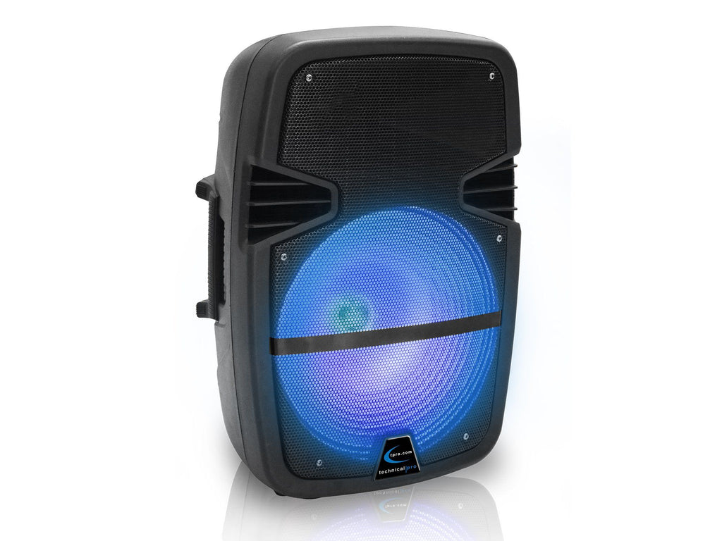 "Rechargeable 8"" LED Loudspeaker"
