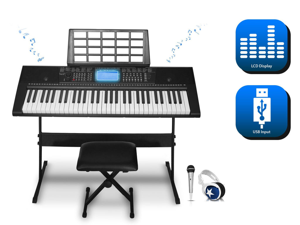 Technical Pro - 61 Keys Electric Piano Learning Keyboard Bundle