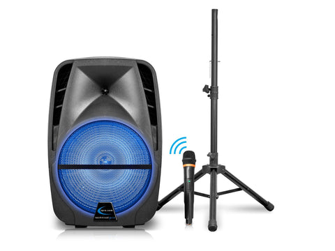 "Rechargeable 15"" Bluetooth LED Speaker Package"
