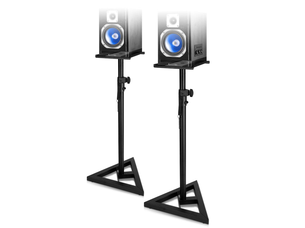 Professional Steel Triple Tripod Speaker Stand Pair