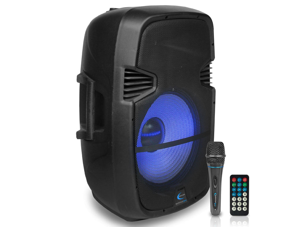 "Technical Pro - Active 15"" LED Loudspeaker with Mic"
