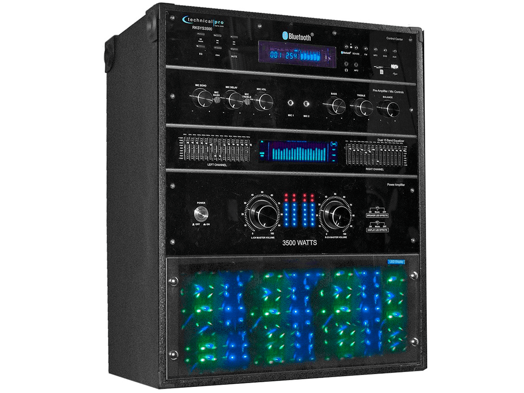 Technical Pro - Pro 3500 Watt Audio Entertainment Rack System