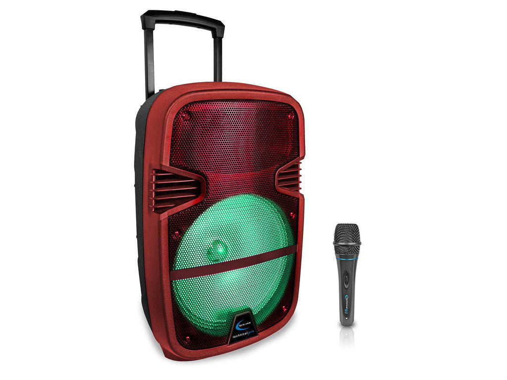 "Technical Pro - Rechargeable 10"" LED Loudspeaker with Mic"