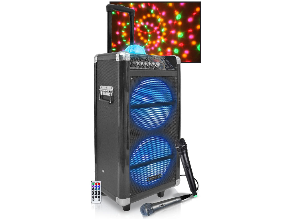 "Technical Pro - Rechargeable 10"" LED Active Loudspeaker"