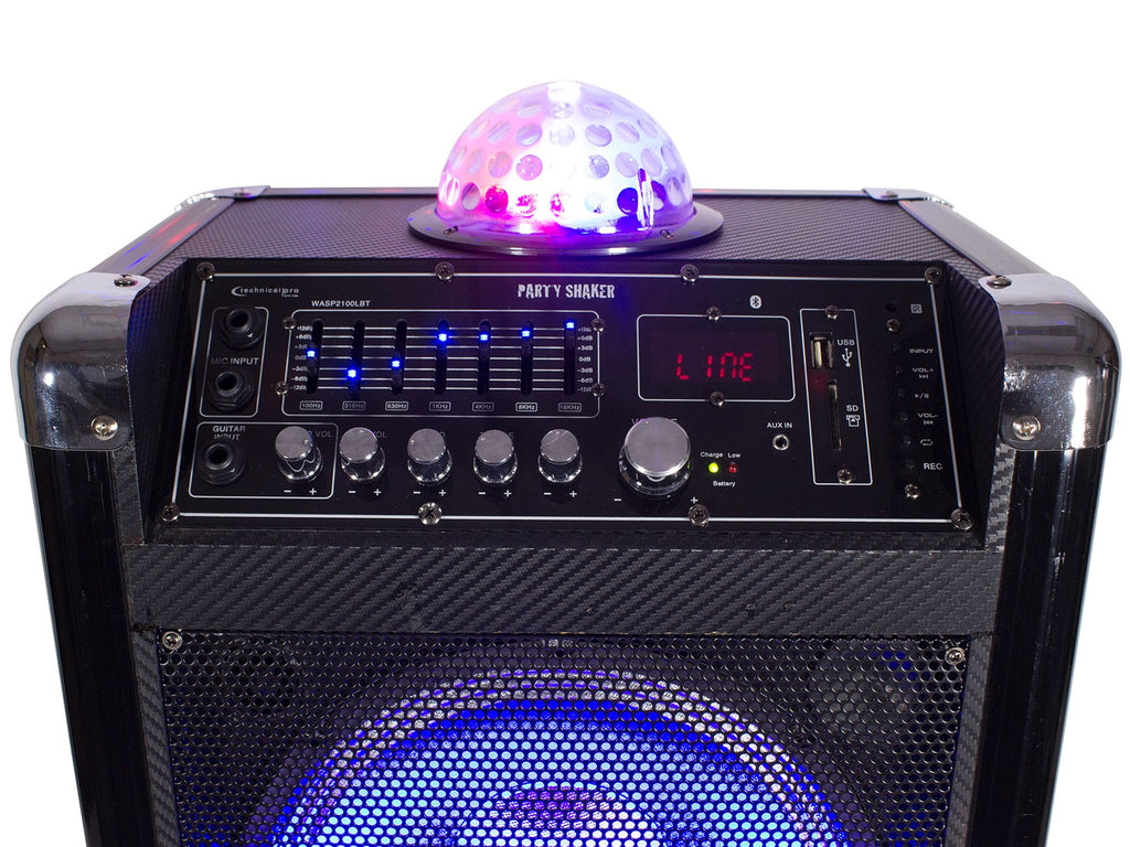 "Rechargeable 10"" LED Active Loudspeaker"